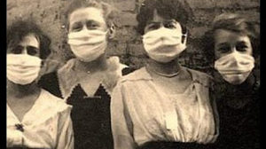 Women in breathing masks