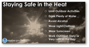 Stay Safe in the Heat Poster